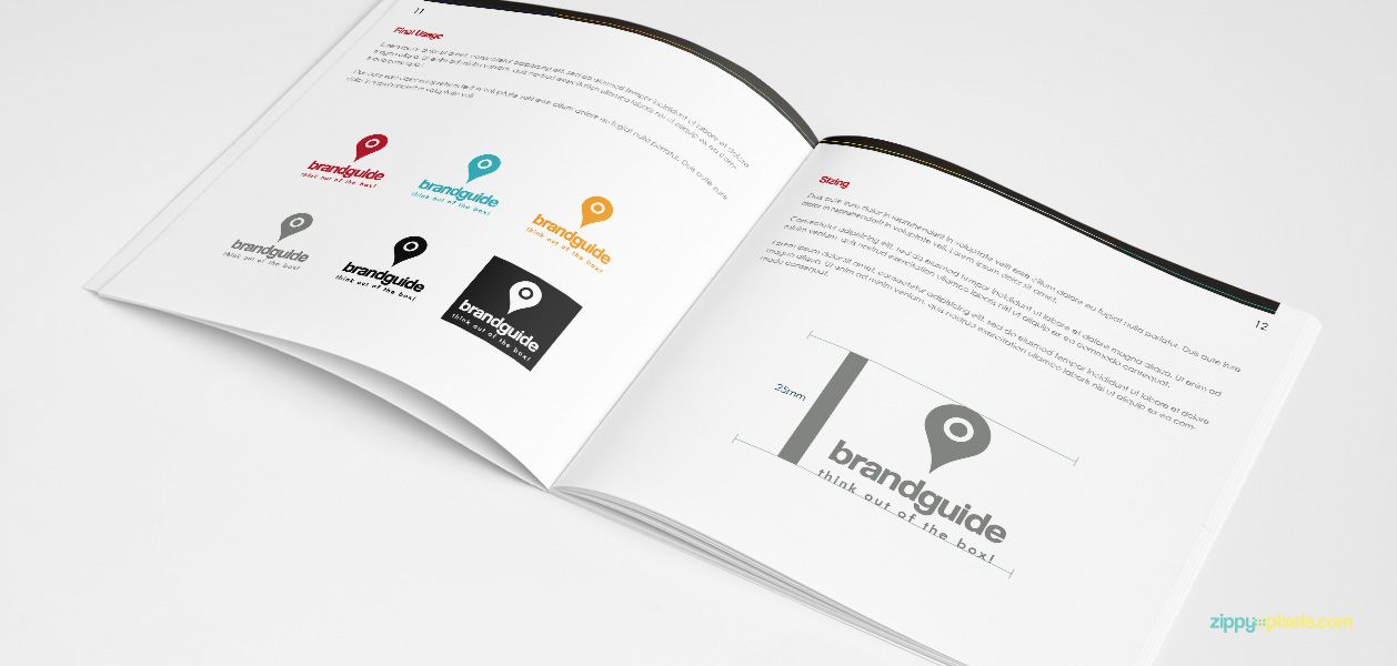 Logo Variation Usage u2013 Brand Book Template for Brand Identity - booklet template