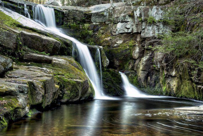 These 13 Hidden Waterfalls In Connecticut Will Take Your Breath Away Waterfall Hikes Waterfall Beautiful Waterfalls