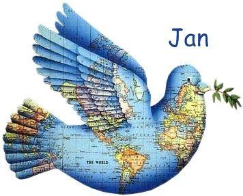 Globe Terrestre forme oiseau