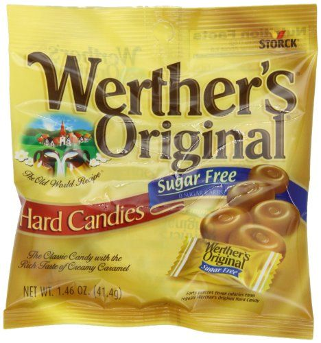 Pack Of 12 Holiday Christmas Fresh Werthers Original Caramel Coffee Hard Candy