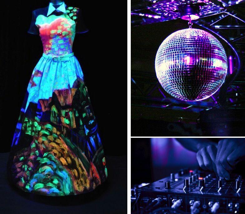 Fantasy Friday Night Club Wedding Glow In The Dark Style Http