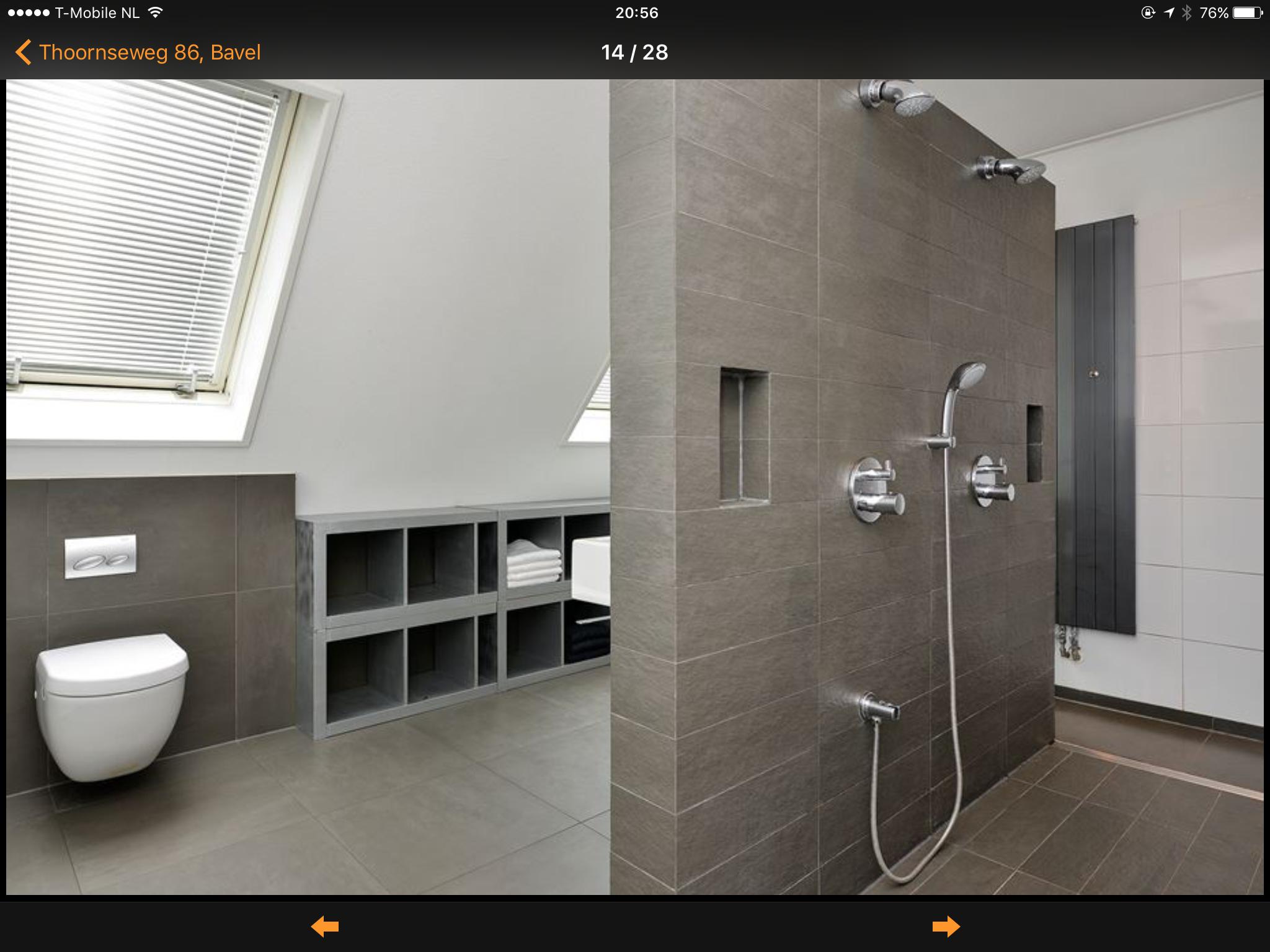 Kast badkamer onder de schuine wand bathroom ideas in 2019