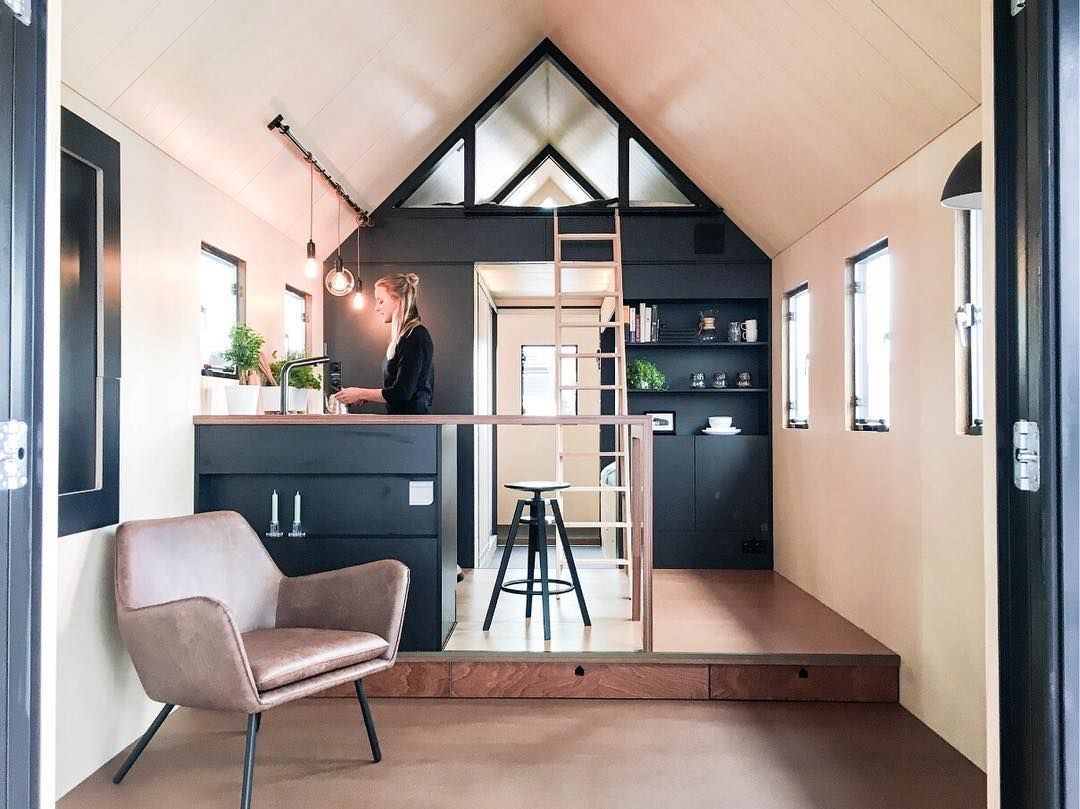 Tiny house kitchen that is super simple but has lots of space also pin by megan on home in living rh pinterest