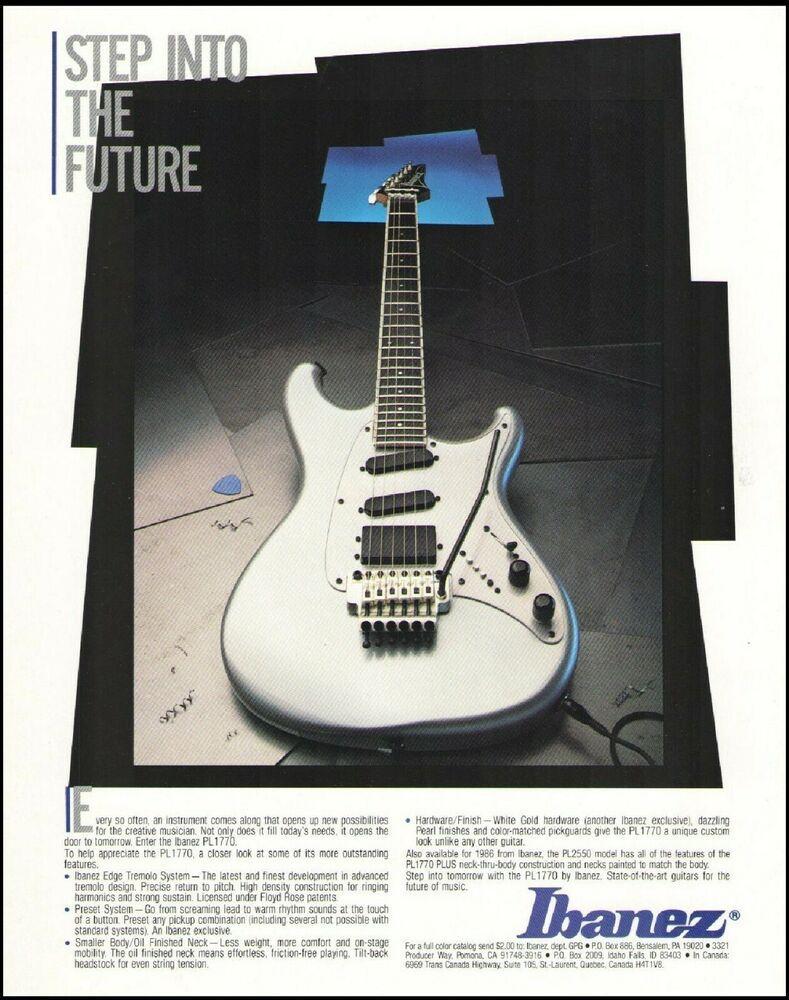 Ibanez Pl 1770 Electric Guitar Ad 1986 Advertisement Print Ibanez In 2020 Ibanez Guitars Guitar Ibanez