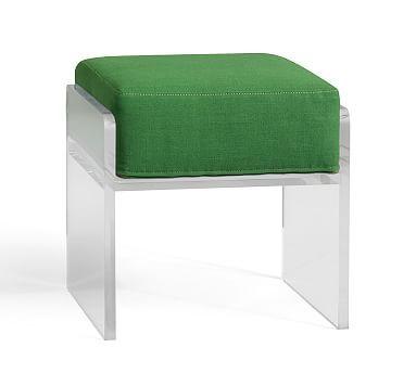 Octavia Cushions, Linen Grass Green