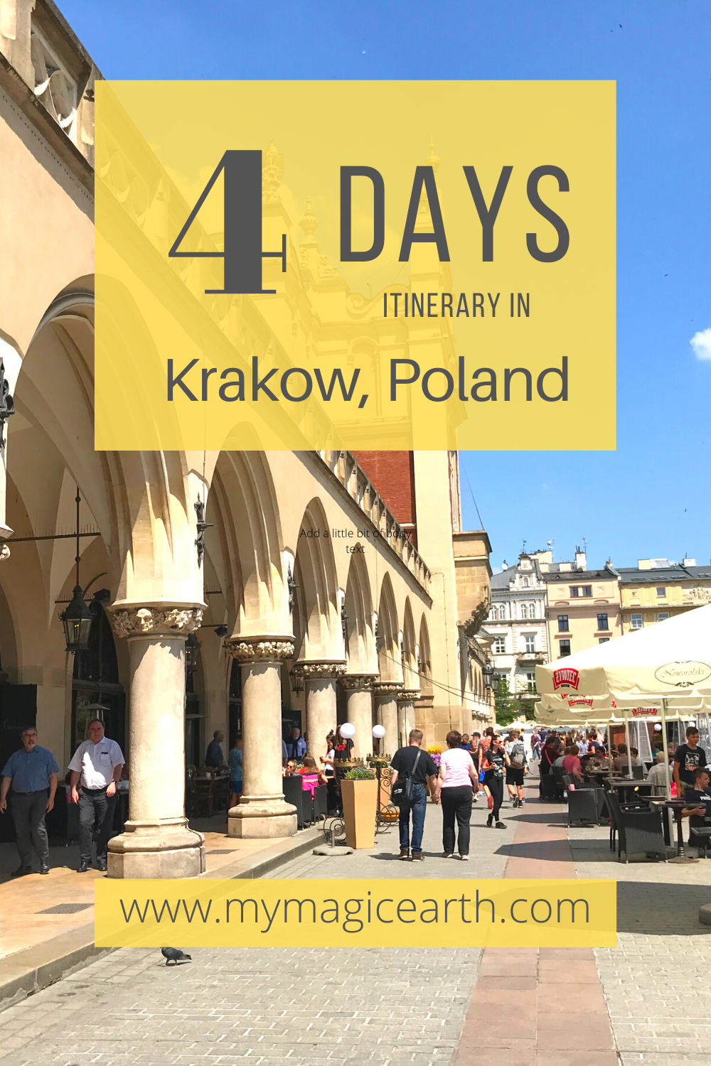 A Long Weekend Itinerary For Krakow My Magic Earth In 2020 European Travel Tips Europe Trip Itinerary Poland Travel