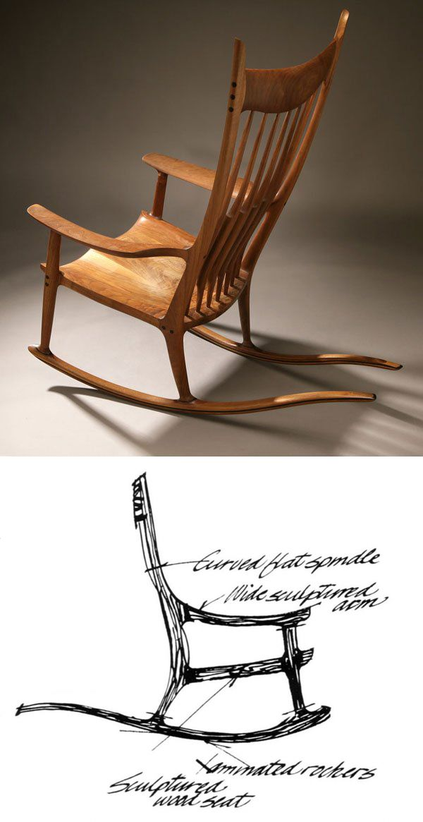 Sam Maloof woodworker Cherry - rocker Projects - Rocking Chairs
