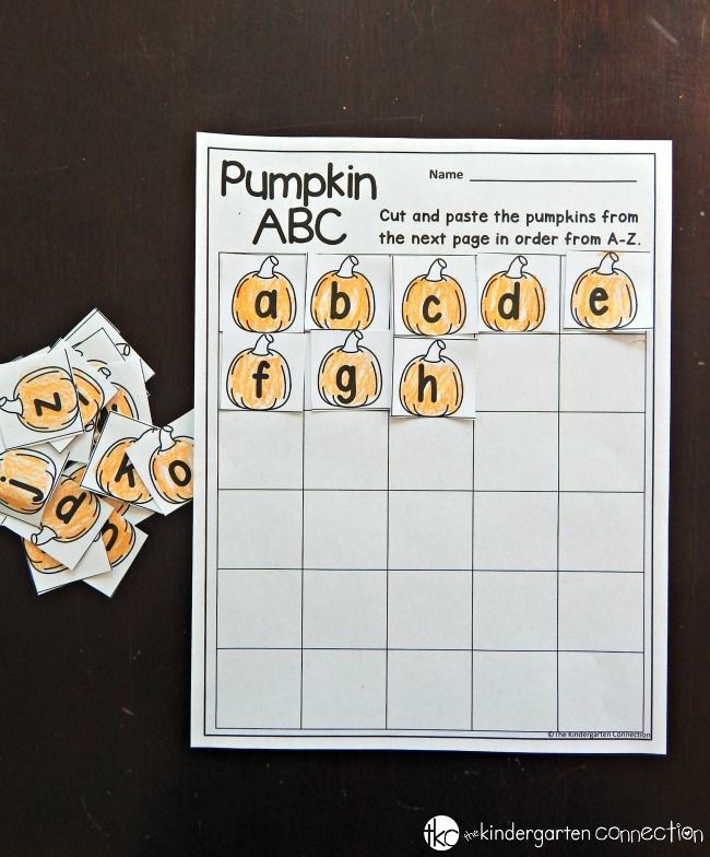 Free Fall Printables   Learning activities, Alphabetical order and ...