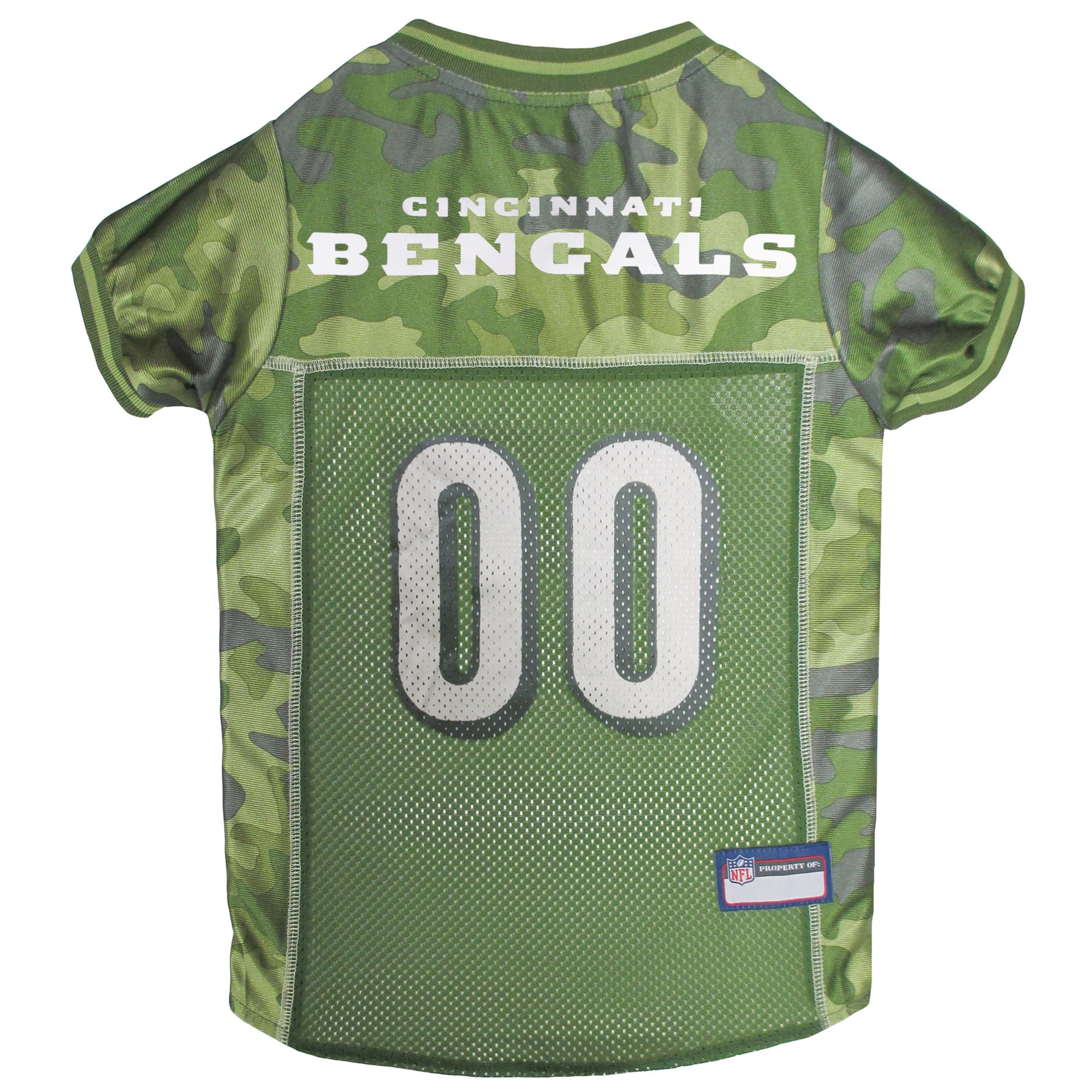 79b27447 Pets First Cincinnati Bengals Camo Jersey, X-Large, Green in 2019 ...