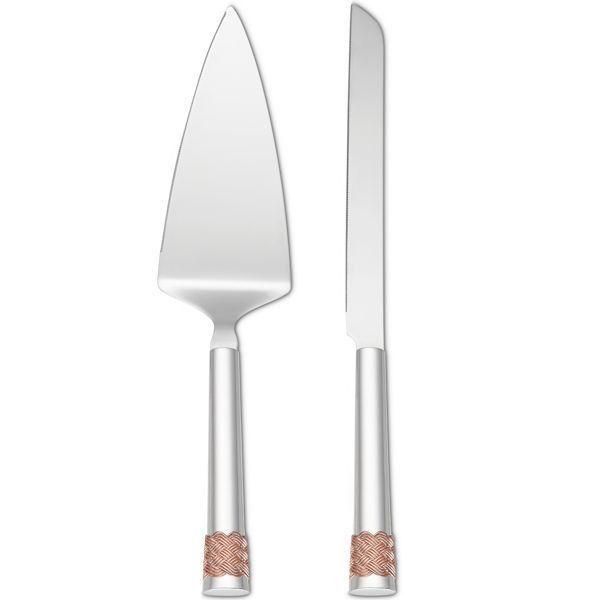 SALE!! Lenox Aegean Rose 2-Piece Cake Knife and Server - Ria's Hallmark & Jewelry Boutique