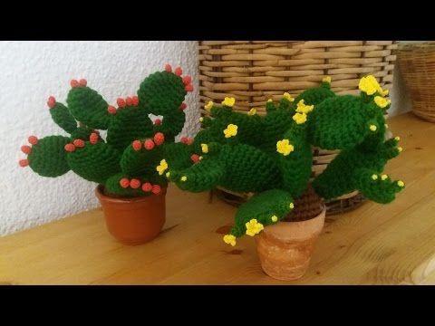 Amigurumi Cactus Tejido A Crochet Regalo Original : Tutorial de crochet ganchillo cactus facil de hacer youtube