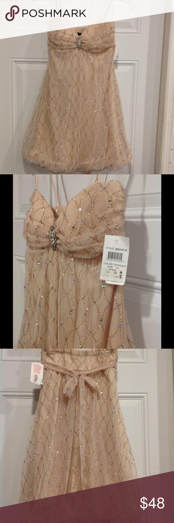 Goldhologram dillards dress bdarlin size middle school dance