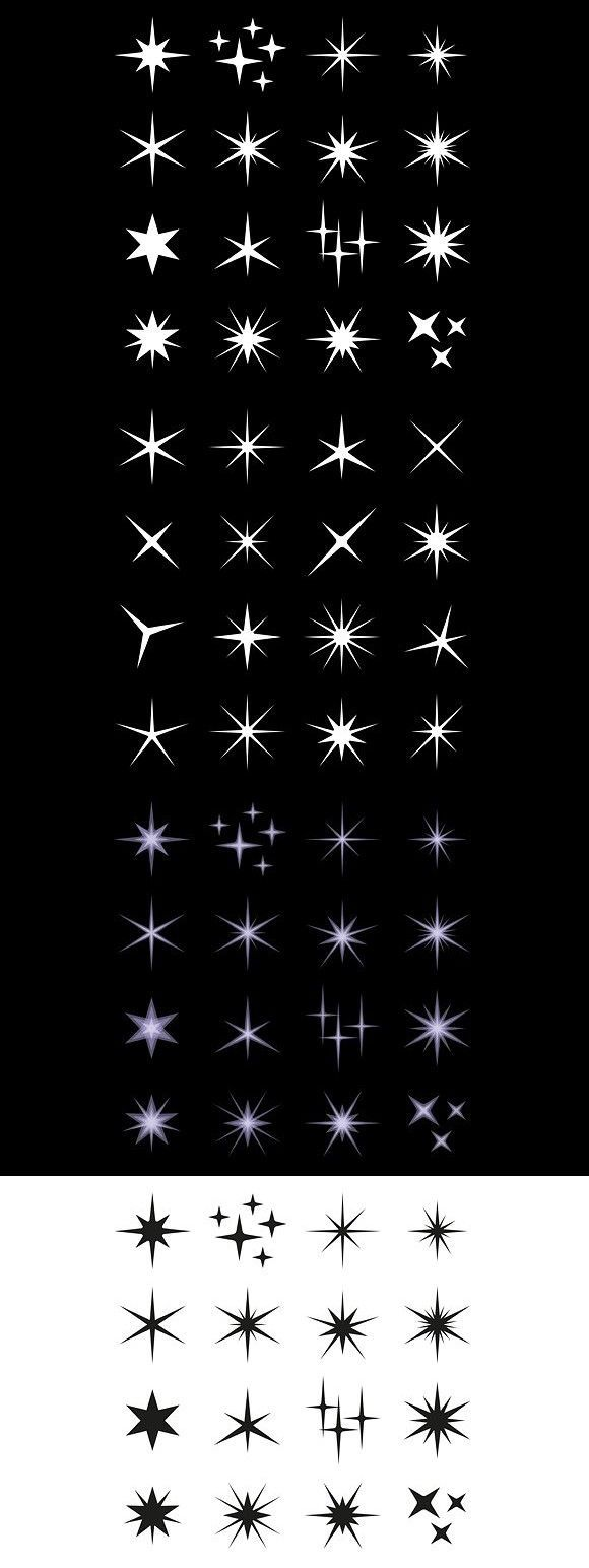 #Set #star tattoo #vector #vorlage