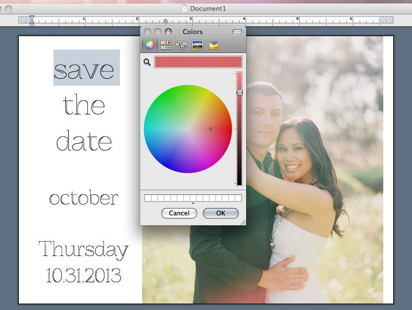 Word tutorial on save the date card creation