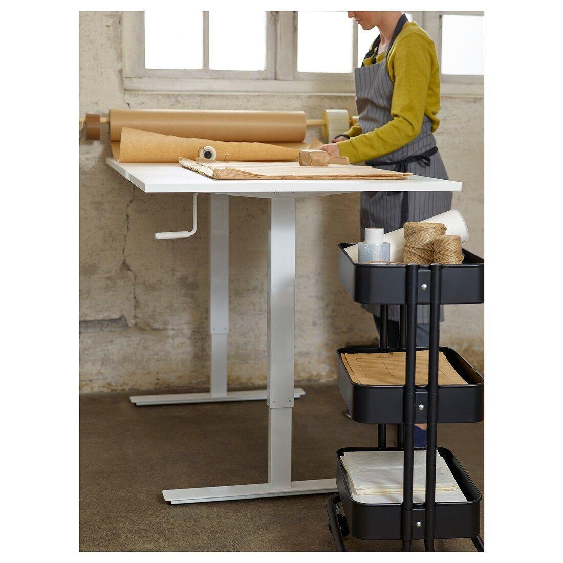Skarsta Desk Sit Stand White Ikea Ikea Standing Desk