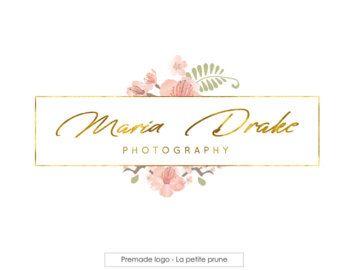 Logotipo Y Marca De Agua Logotipo Floral Caligrafía Logo