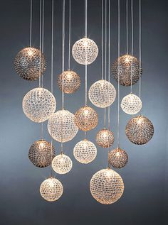 Winsome Modern Chandelier Lighting Balls Crystal White Gold Color Bright Room Light Fixture Ceiling Lights Pendant