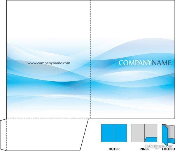4desinger corporate information folder vector material