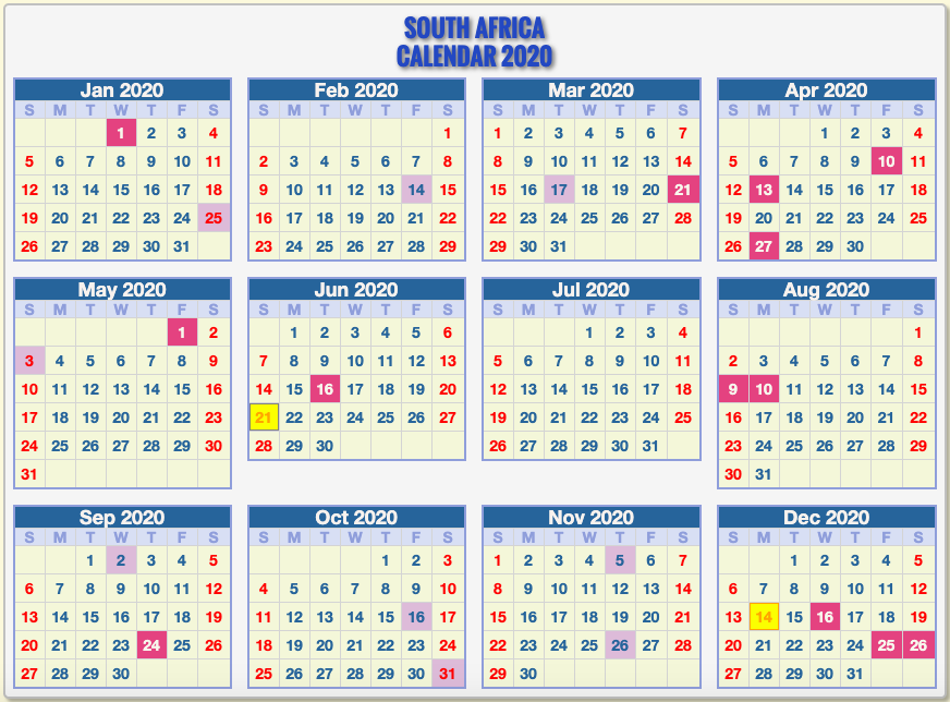 Awesome Public Holidays December 2019 And January 2020 South Africa And View In 2020 South African Holidays Calendar Template Calendar