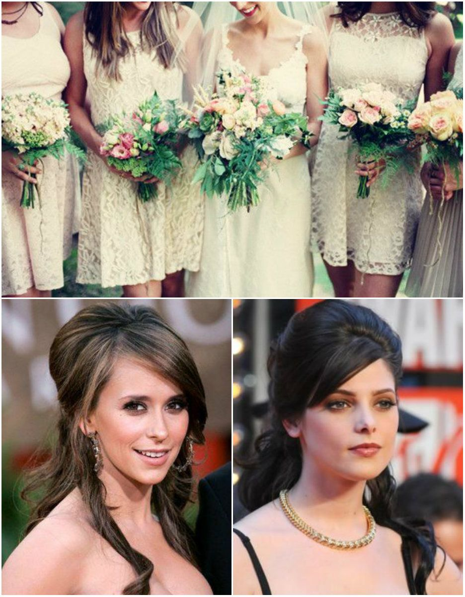 Half up and down hairstyle for black bridesmaid halfupdo rpgshow