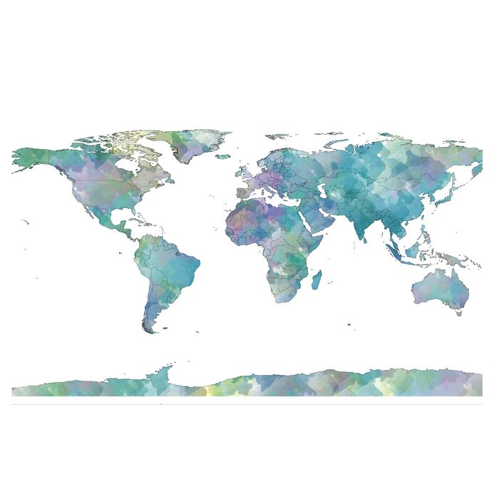Watercolor world map poster 24 x 36 gumiabroncs Choice Image