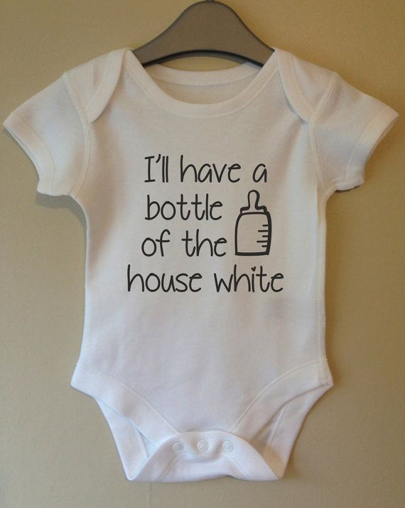 Ill have a bottle of the house white cool baby body vest girl boy jedi in training star wars personalised personalized cool baby body grow suit vest girl boy baby clothes gift idea funny negle Images