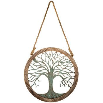 Round Wood And Metal Tree Wall Decor Small Round Wood & Metal Tree Wall Decor  Cath House  Pinterest