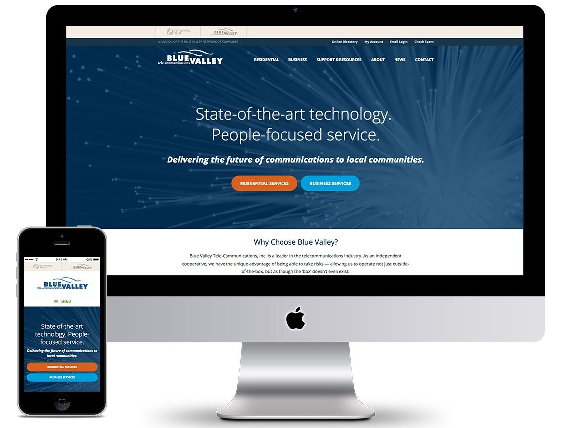 Blue Valley Telecommunications - Manhattan, KS | Website Design, Digital Marketing, Video Production - NBCG
