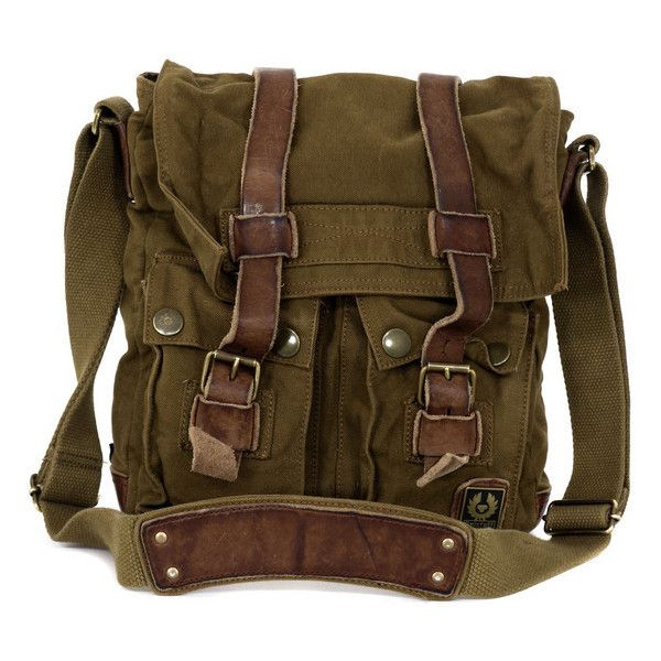 659e5dda0e Large Man Mountain Brown Canvas Bag ($235) ❤ liked on Polyvore ...