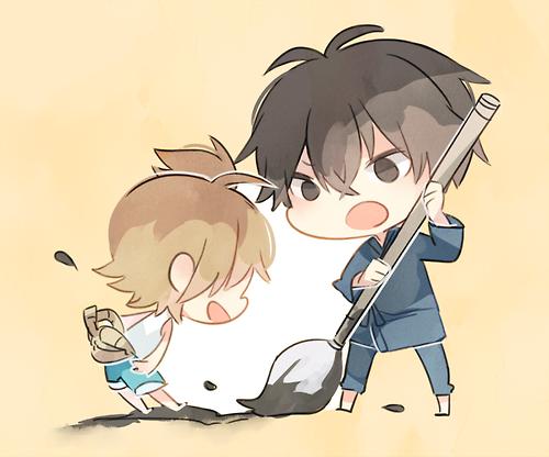 Naru & Seishuu | Barakamon #anime #chibi