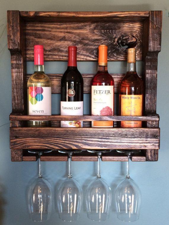 Rack para vinos con palets diy pinterest palets for Estantes para vinos