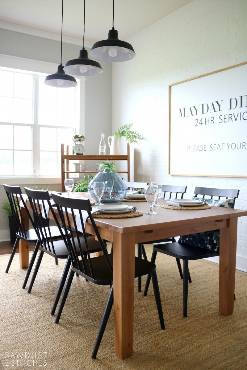 Modern Farmhouse Dining Room Makeover Dining Room Table Set