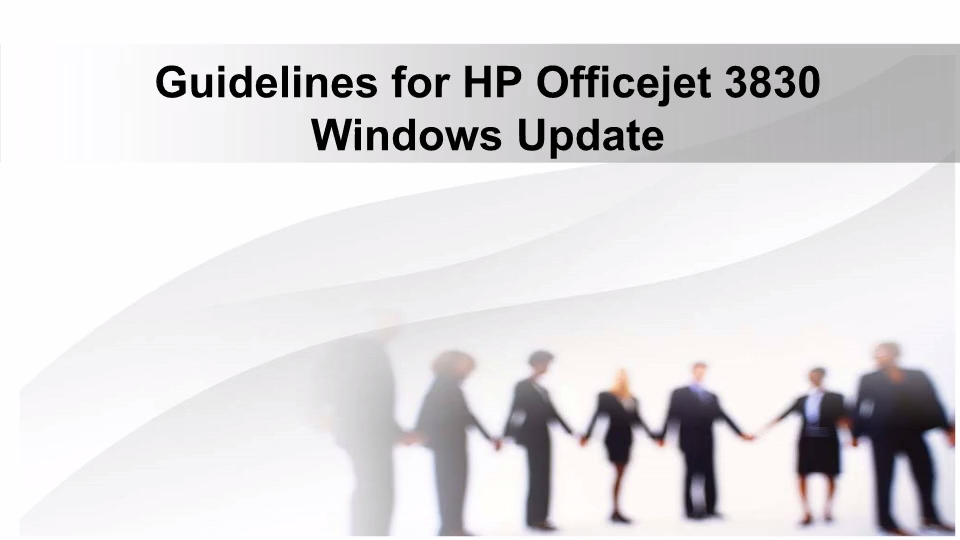HP Officejet 3830 Printer Windows Update Guidance | 123 hp