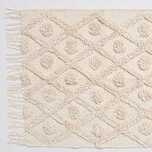 Diamond Tufted Runner Rug Texture Rug Pattern Cotton Rug