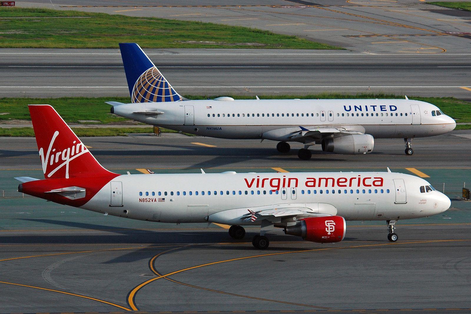 N852VA & N416UA Virgin america, Sf giants logo, Vintage