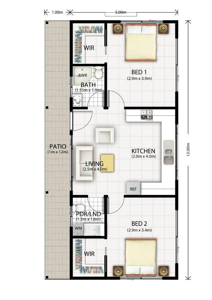 Cromer Granny Flat Design Floor Plan Dreamhouse Pinte