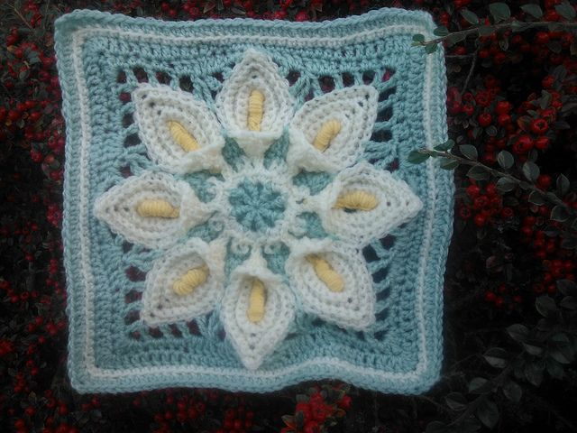 "Ravelry: Project Gallery for Purifying Puritans 12"" Afghan Block/Tutorial pattern by Margaret MacInnis"