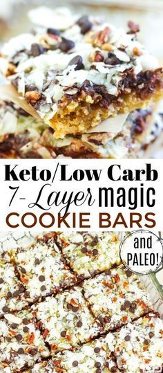 Too magical not to share! Seven Layer Magic Cookie Bars are Keto Paleo and Low Carb  and so delicious!! Perfect for holidays and special occasions! Eat Beautiful | magic cookie bars | seven layer | keto cookies | paleo 7 layer bars | low carb 7 layer bars | keto 7 layer bars | holiday desserts | holiday cookies  Too magical not to share! Seven Layer Magic Cookie Bars are Keto Paleo and Low Carb  and so delicious!! Perfect for holidays and special occasions! Eat Beautif