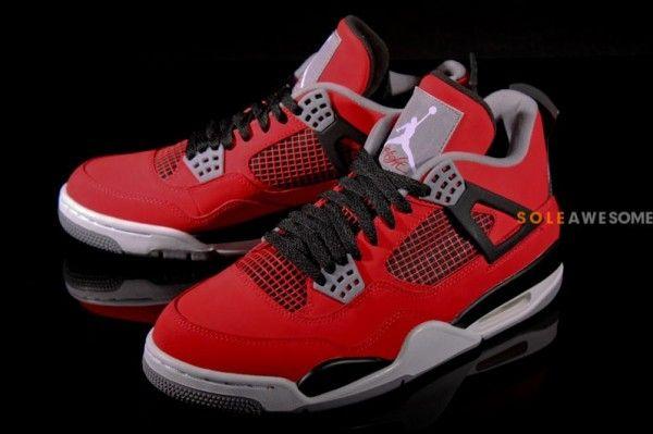 8660206ee97e Air Jordan 4 Retro - Fire Red White-Black-Cement Grey