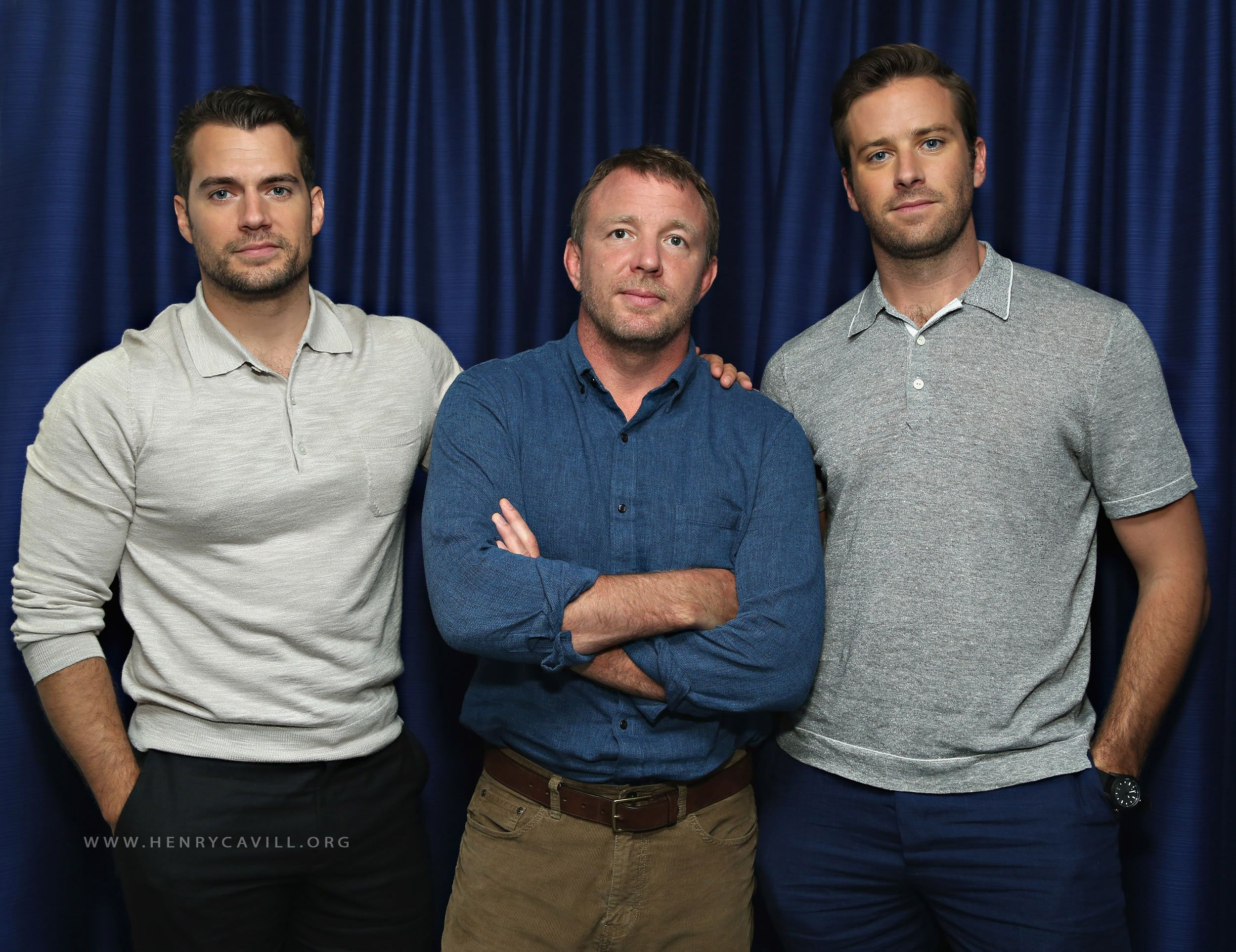 Henry, Armie and Guy at Sirius XM