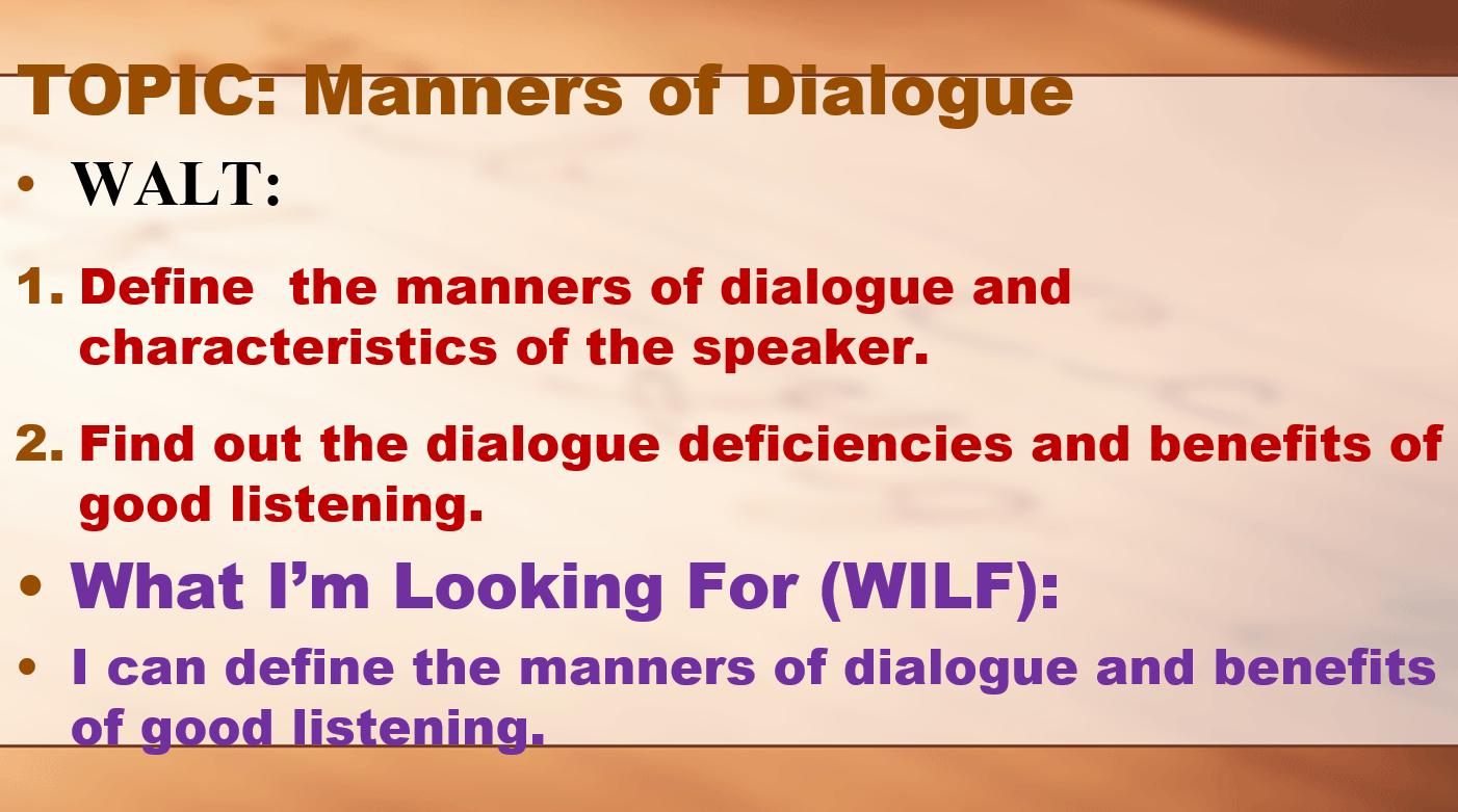 درس Manners Of Dialogue لغير الناطقين باللغة العربية الصف الحادي عشر مادة التربية الاسلامية Manners Dialogue Alignment