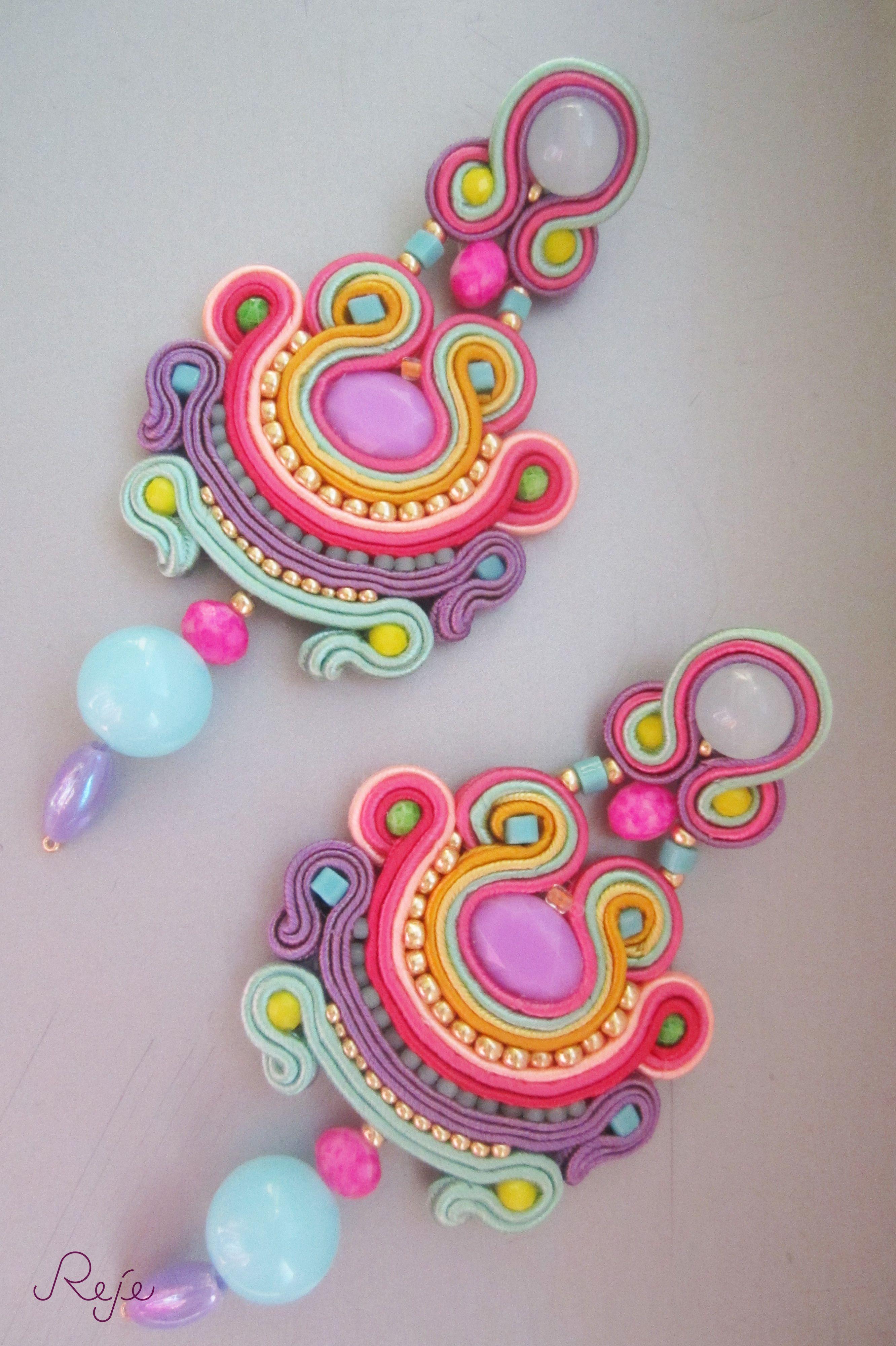 """Etsy shop: https://www.etsy.com/shop/Rejesoutache?ref=hdr_shop_menu Soutache earrings """"Mirabilis"""" -Reje- Fb: https://www.facebook.com/rejegioielliinsoutache"""