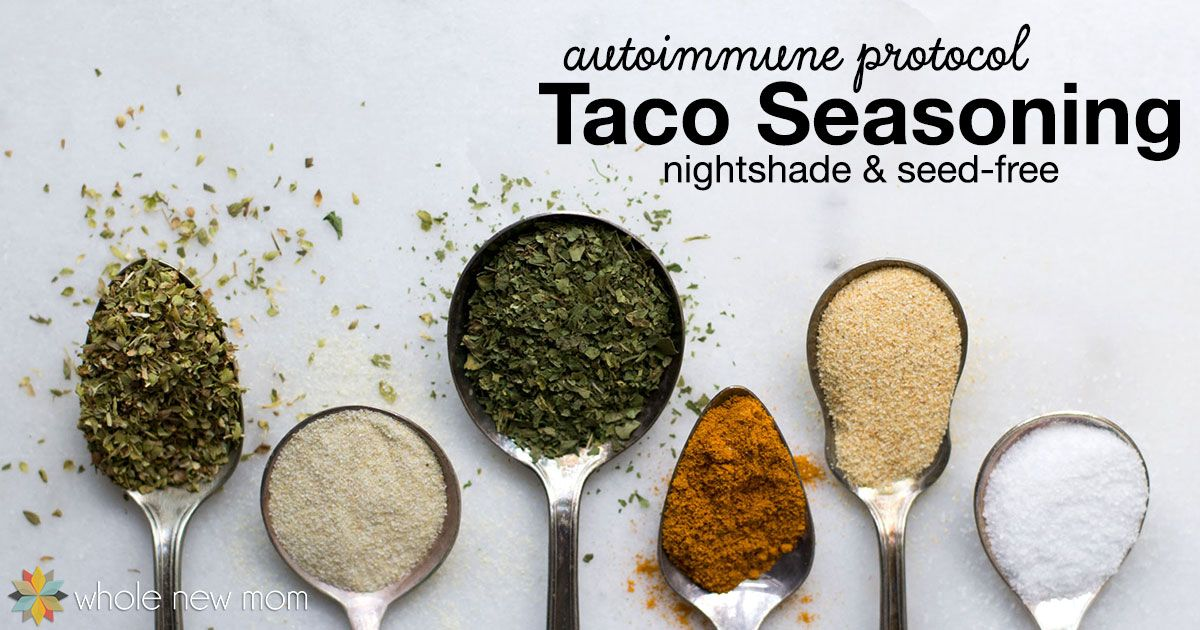 AIP (Autoimmune Protocol) Taco Seasoning ~ nightshade and seed-free #diytacoseasoning