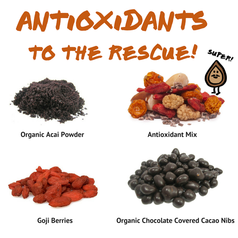 Antioxidants are the natural compounds found in foods that protect your cells against free radical damage linked to diseases and premature aging. Check out our most popular antioxidant-packed gems at http://www.nuts.com/ #nutsdotcom #antioxidants #cleaneating