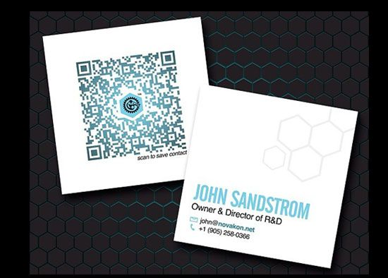 Mini Square Business Cards With Qr Code Square Business Cards Foil Business Cards Typography Business Cards