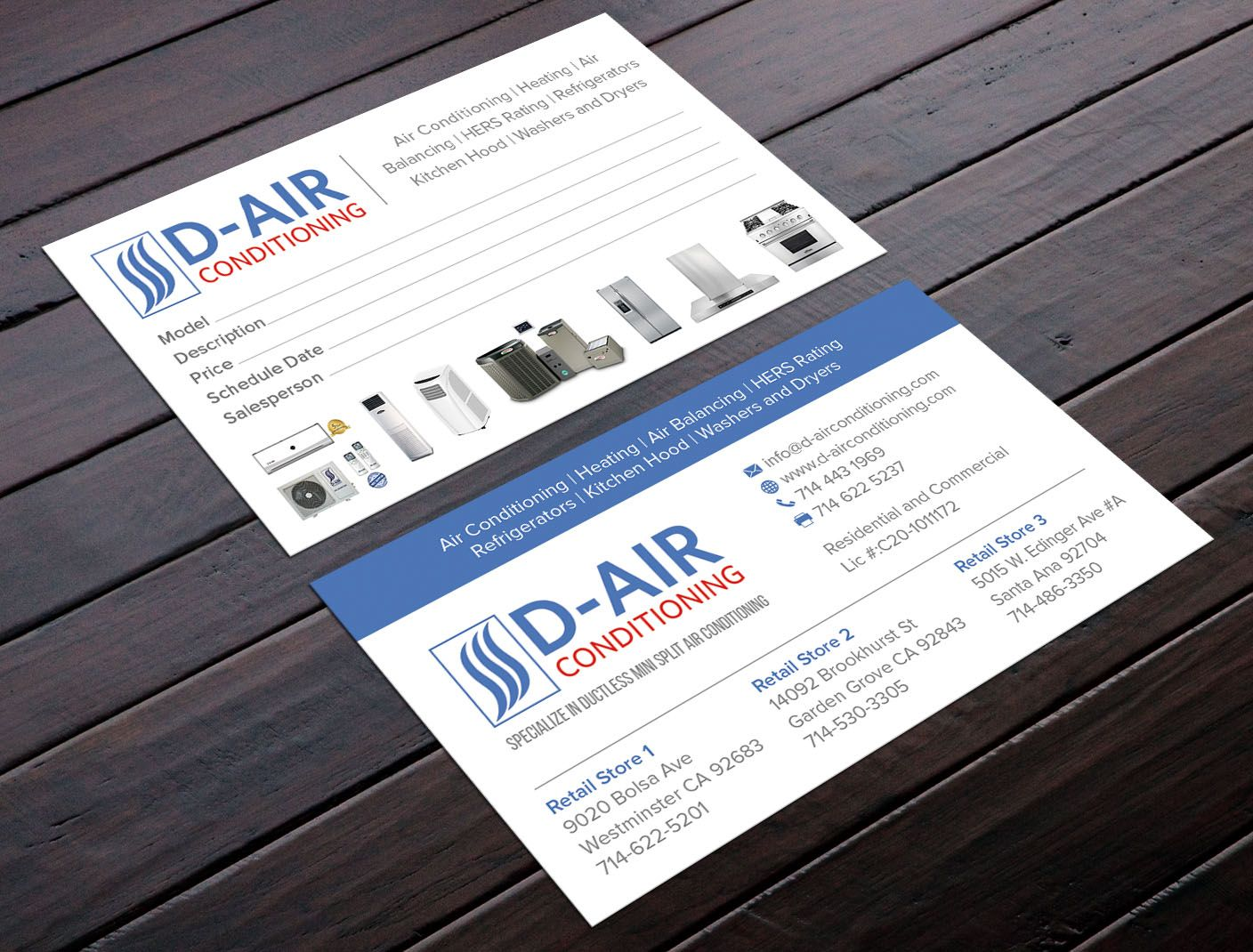 Designs | Design a business card for an air conditioning company ...