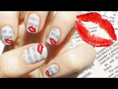 Love letter nail art newspaper tecnique nail art pinterest love letter nail art newspaper tecnique prinsesfo Image collections