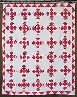 Exceptional Quilting! Turkey RED & White ANTIQUE c1880 QUILT 79x64 ... : cleaning antique quilts - Adamdwight.com