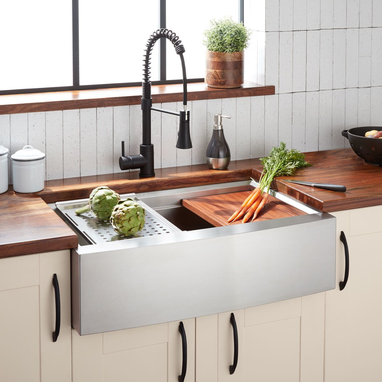 32 Workspace Stainless Steel Farmhouse Sink Farmhouse Sink Stainless In 2020 Stainless Steel Farmhouse Sink A Christmas Story Sink