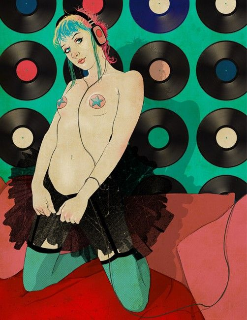 raving flirt by Jason Levesque - seriously one of my favorite illustrations of a girl ever, I want a print!!